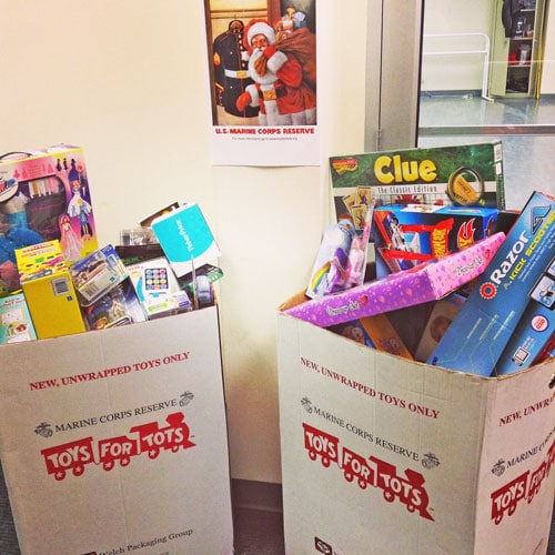 Institute of Dance Artistry (IDA), located in Fort Washington and Plymouth Meeting PA, gives back to the community, Toys for Tots.