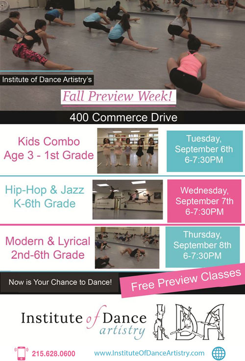 Institute of Dance Artistry (IDA) Preview Week, in our Fort Washington PA studio.